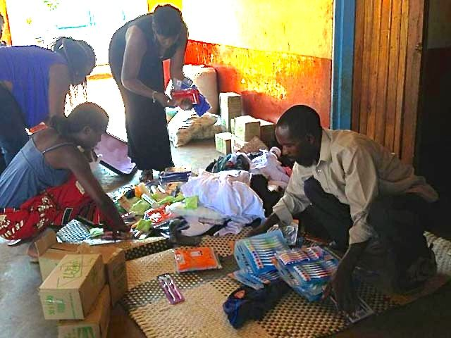 Aid being given in Malawi
